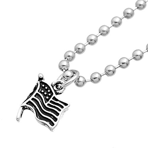USA American Flag Charm Pendant For Necklace - Sexy Sparkles Fashion Jewelry - 2
