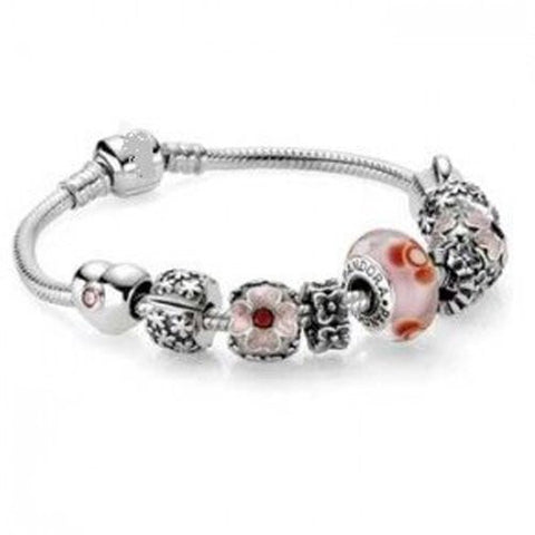 8.5 Inches Snake Chain Bead Barrel Clasp European Bracelet fits European Charms - Sexy Sparkles Fashion Jewelry - 4