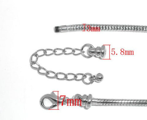 "Starter Master Bracelet 7.5"" Removable Lobster Claw + 1-1/2 Extension Chain - Sexy Sparkles Fashion Jewelry - 2"