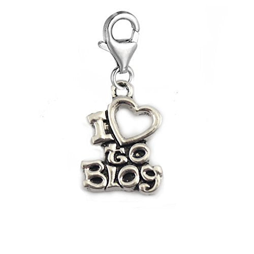 I Love to Blog Clip on Pendant Charm for Bracelet or Necklace
