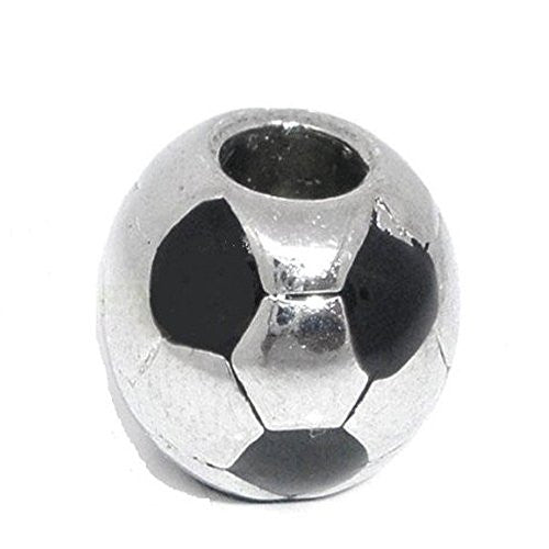 Design Soccer Ball EuropeanCharm Compatible with European Snake Chain Charm Bracelet - Sexy Sparkles Fashion Jewelry - 1