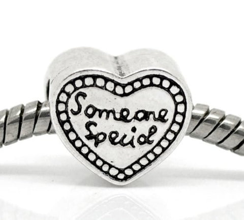 """Someone Special"" Heart Bead European Bead Compatible for Most European Snake Chain Bracelet - Sexy Sparkles Fashion Jewelry - 2"