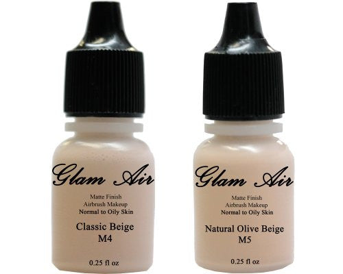 Glam Air Airbrush Water-based Foundation in Set of Two (2) Assorted Light Matte Shades M4-M5 0.25oz - Sexy Sparkles Fashion Jewelry - 1