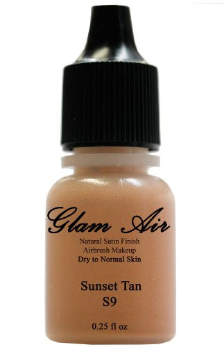 Airbrush Makeup Foundation Satin S9 Sunset Tan Water-based Makeup Lasting All Day 0.25 Oz Bottle - Sexy Sparkles Fashion Jewelry - 1