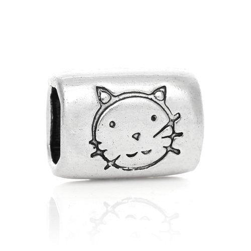 Charm Beads for Leather Bracelet/watch Bands or Wrist Bands (Cat) - Sexy Sparkles Fashion Jewelry - 1