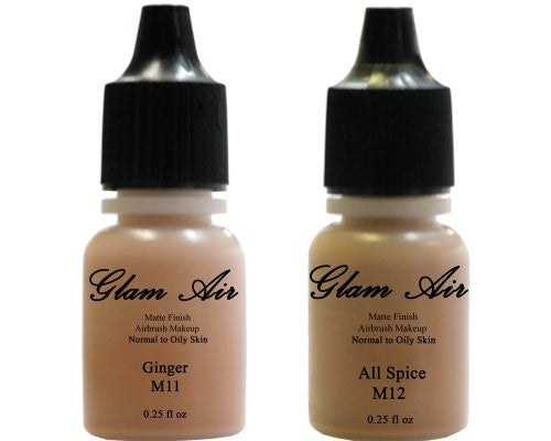 Glam Air Airbrush Water-based Foundation in Set of Two (2) Assorted Tan Matte Shades M11-M12 0.25oz - Sexy Sparkles Fashion Jewelry - 1