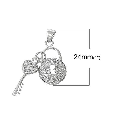 Key to My Heart Charm Pendant for Necklace - Sexy Sparkles Fashion Jewelry - 3