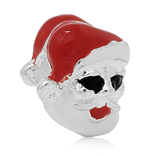 Christmas Santa Clause Charm Bead for European Snake Chain Charm Bracelet - Sexy Sparkles Fashion Jewelry - 1