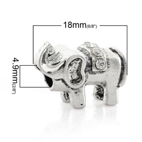 Elephant with  Crystals Charm European Bead Compatible for Most European Snake Chain Bracelet - Sexy Sparkles Fashion Jewelry - 2