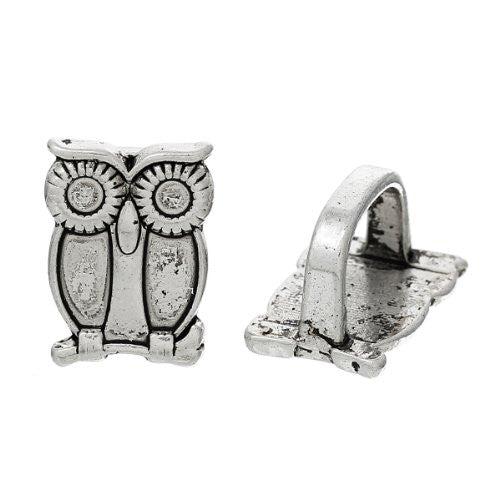 Charm Beads for Leather Bracelet/watch Bands or Wrist Bands (Owl) - Sexy Sparkles Fashion Jewelry - 1