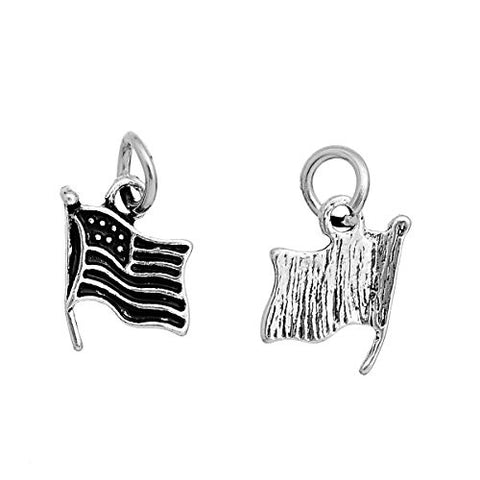USA American Flag Charm Pendant For Necklace - Sexy Sparkles Fashion Jewelry - 3