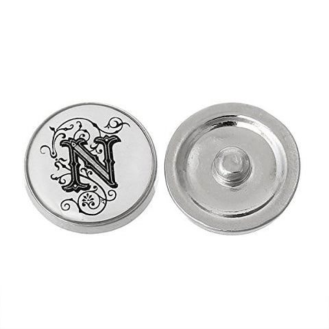 Alphabet Letter N Chunk Snap Button or Pendant Fits Snaps Chunk Bracelet - Sexy Sparkles Fashion Jewelry - 1