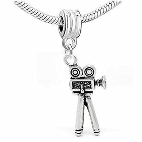 Film Movie Camera 3d Spacer European Bead Compatible for Most European Snake Chain Bracelet