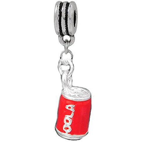 3d Coca Cola Can Dangle European Bead Compatible for Most European Snake Chain Bracelet