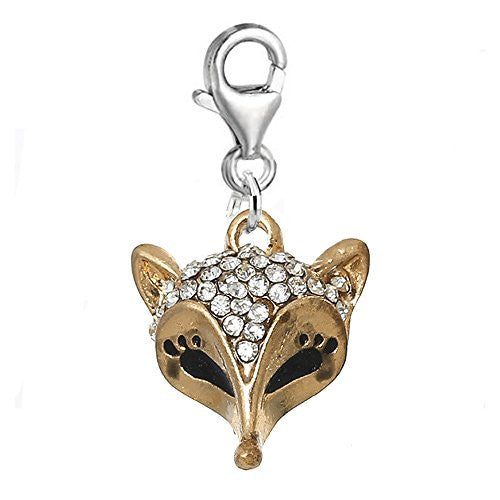 Fox Charm Bead Clip on Pendant for European Charm Jewelry w/ Lobster Clasp - Sexy Sparkles Fashion Jewelry