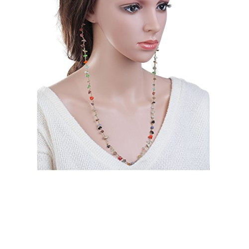 "Sexy Sparkles 23"" Inch long Chain Multicolor Earlace Fashion jewelry earrings for women"