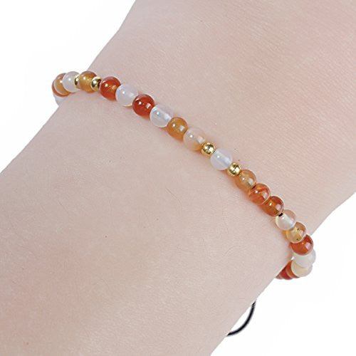 Sexy Sparkles Agate Dainty Thin Delicate Women Healing and Strength Bracelet