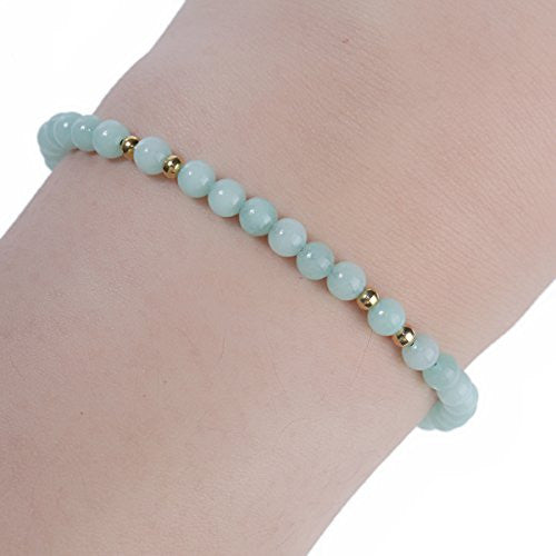 Sexy Sparkles Amazonite Dainty Thin Delicate Women Tranquility Bracelet