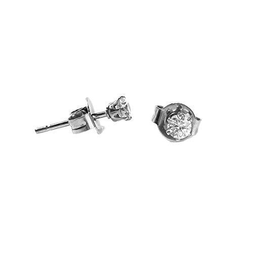 Sexy Sparkles Women's Stainless Steel Round Clear Cubic Zirconia Stud Earring 4mm -11mm to Choose from