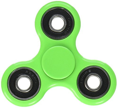 Sexy Sparkles Green Tri-Spinner Fidget Hand Spinner Finger Toy Stress Reducer EDC Focus Toy Relieves ADHD Anxiety and Boredom