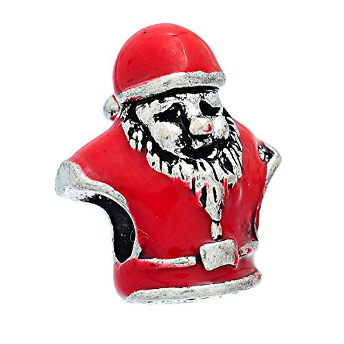 Red Christmas Santa Claus Bead Compatible for Most European Snake Chain Bracelet - Sexy Sparkles Fashion Jewelry - 1