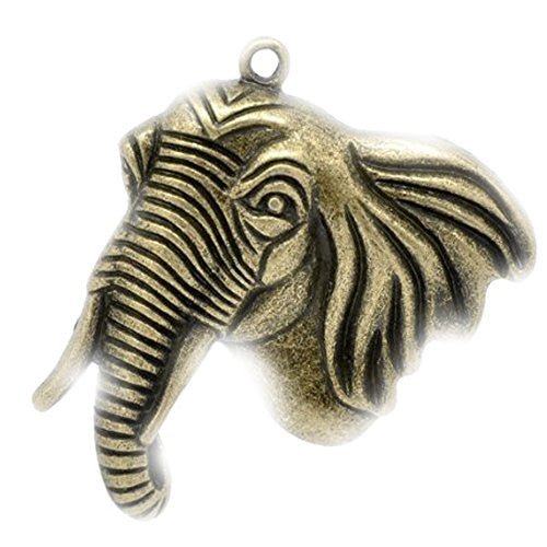 Antique Bronze Plated Elephant Pendant for Necklace - Sexy Sparkles Fashion Jewelry - 1