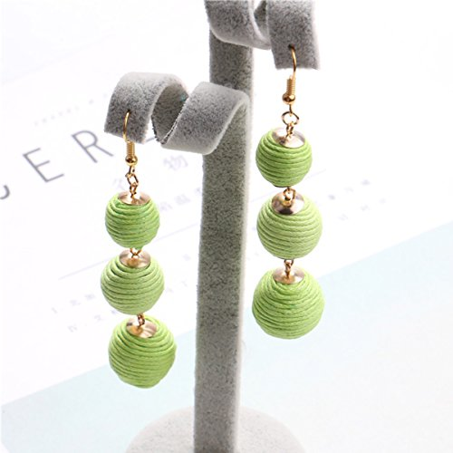 SEXY SPARKLES Sexy Sparkles Bon Bon Thread Ball Dangle Earrings Lantern Ball Fashion Earrings