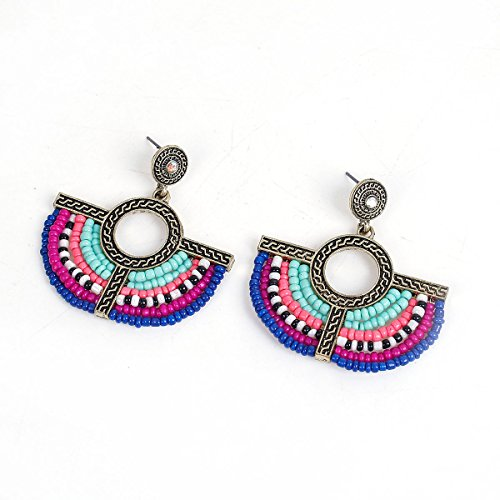 Sexy Sparkles Women's Beaded tassel earrings Long Fringe Lightweight Drop Earrings Dangle