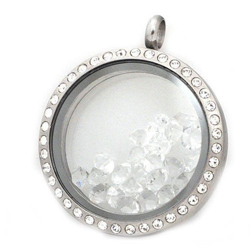 10 Clear Created Crystal Birthstones for Floating Charm Lockets - Sexy Sparkles Fashion Jewelry
