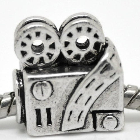 Movie Projector Charm European Bead Compatible for Most European Snake Chain Bracelet - Sexy Sparkles Fashion Jewelry - 1