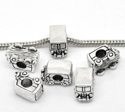 Peace Volkswagon Van Bead Charm Spacer for Snake Chain Charm Bracelet - Sexy Sparkles Fashion Jewelry - 2