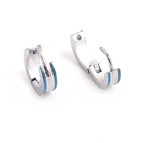Sexy Sparkles Titanium Steel Mens Womens Hoop Earrings Piercings Huggie Hypoallergenic