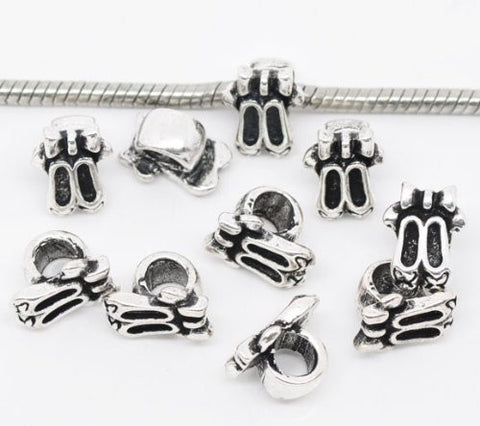 Ballet Shoes Bead European Bead Compatible for Most European Snake Chain Charm Bracelet - Sexy Sparkles Fashion Jewelry - 2