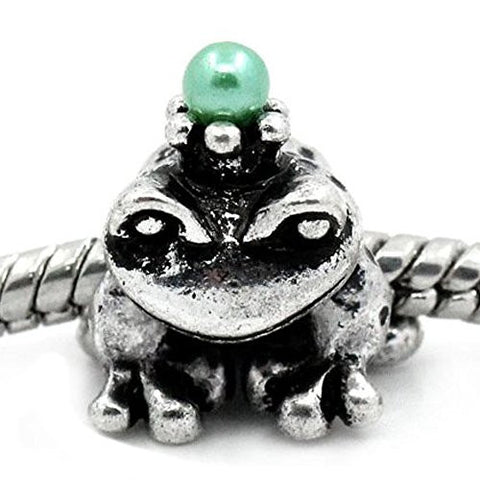 Prince Frog Bead Spacer for Snake Chain Charm Bracelet - Sexy Sparkles Fashion Jewelry - 1