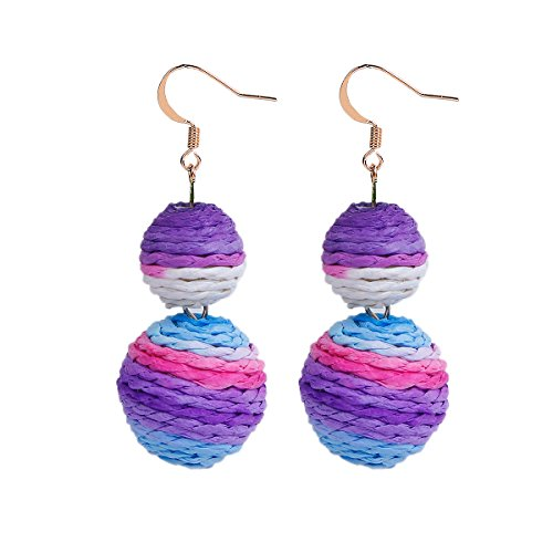 Sexy Sparkles Bon Bon Thread Ball Dangle Earrings Lantern Ball Fashion Earrings