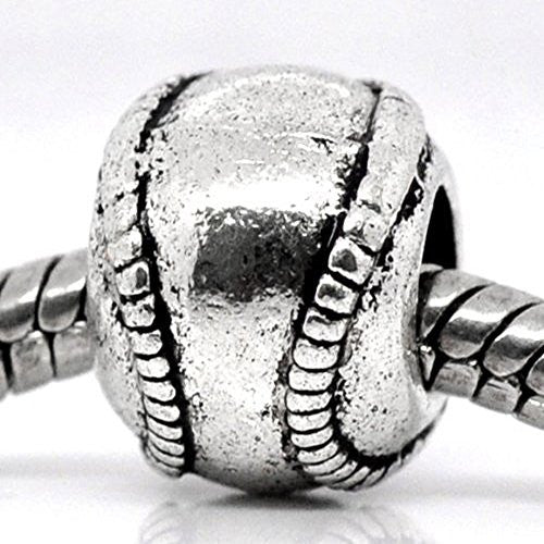 Base Ball Charms for European Snake Chain Charm Bracelet