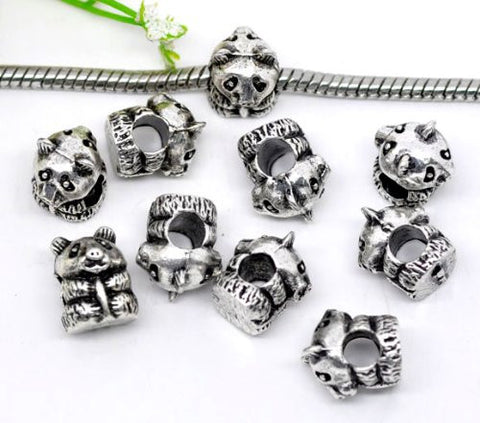 Baby Panda Bead Charm Spacer For Snake Chain Charm Bracelet - Sexy Sparkles Fashion Jewelry - 2