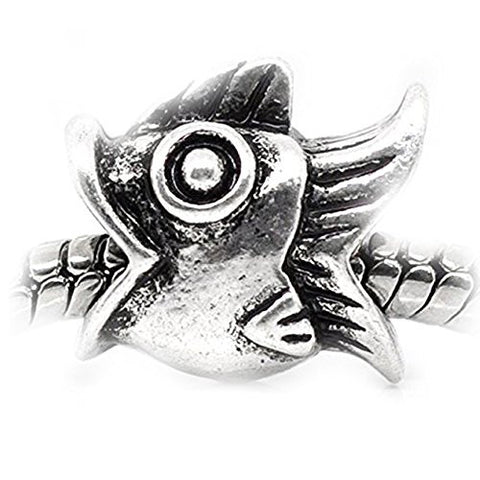 Fish Charm Spacer European Bead Compatible for Most European Snake Chain Bracelet - Sexy Sparkles Fashion Jewelry - 1