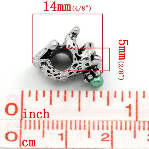 Prince Frog Bead Spacer for Snake Chain Charm Bracelet - Sexy Sparkles Fashion Jewelry - 2