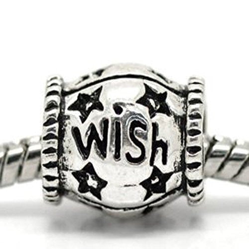 """Wish""  Charms for Snake Chain Bracelet"