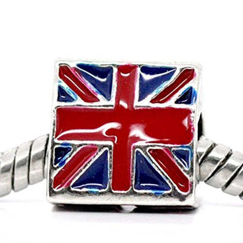 3 Sided Triangle UK Flag Bead European Bead Compatible for Most European Snake Chain Charm Bracelet - Sexy Sparkles Fashion Jewelry