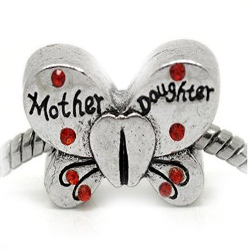 Family Mother Daughter Charm Beads For Snake Chain Bracelets - Sexy Sparkles Fashion Jewelry - 1