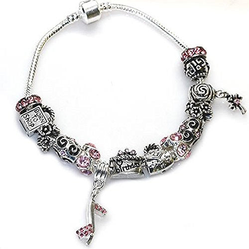 "Happy Birthday Snake Chain Charm Bracelet European Style (7.0"")"