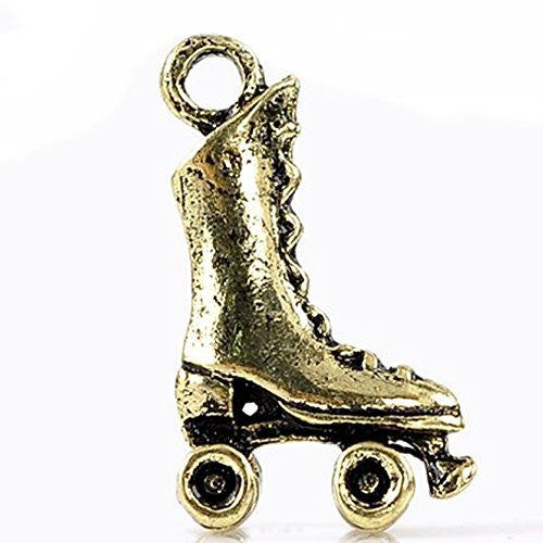 Roller Skates Charm Pendant for Necklace