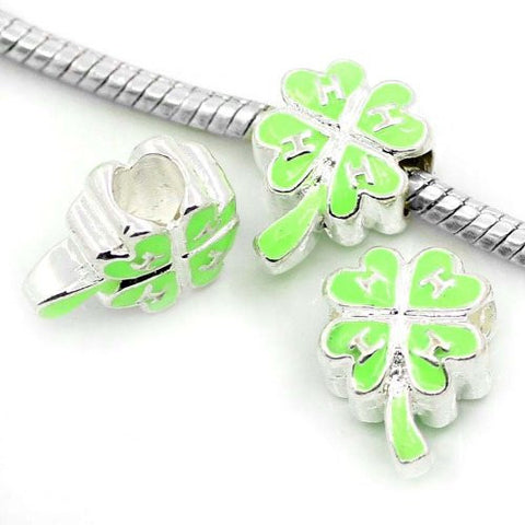 4 Leaf Clover Green Charm Beads For Snake Chain Charm Bracelet - Sexy Sparkles Fashion Jewelry - 2