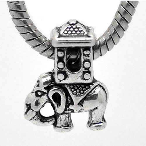 Ancient Elephant Charm for European Snake Chain Charm Bracelets