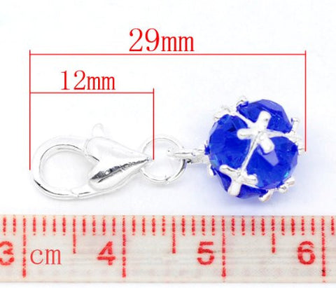 Septemeber Birthstone Dangle Charm Pendant for European Clip on Charm Jewelry w/ Lobster Clasp - Sexy Sparkles Fashion Jewelry - 2