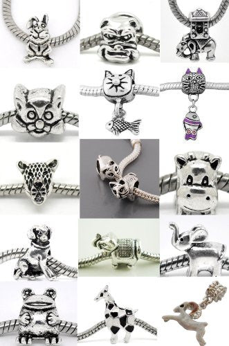Elephant Carrying house Charm for European Snake Chain Charm Bracelets