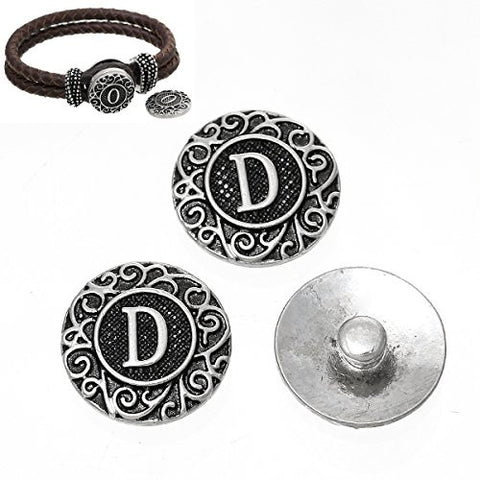 Alphabet Letter D Chunk Snap Button or Pendant Fits Snaps Chunk Bracelet - Sexy Sparkles Fashion Jewelry - 2