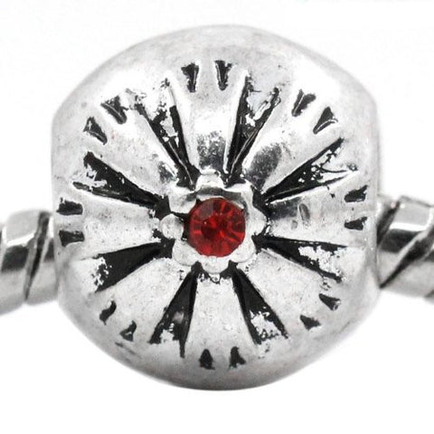 Flower Pattern Bead Spacer for Snake Chain Bracelets (Red) - Sexy Sparkles Fashion Jewelry - 4